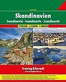 Skandinavien Superatlas, Autoatlas 1:250.000 - 1:400.000: Norwegen, Schweden, Dänemark, Finnland (freytag & berndt Autoatlanten)