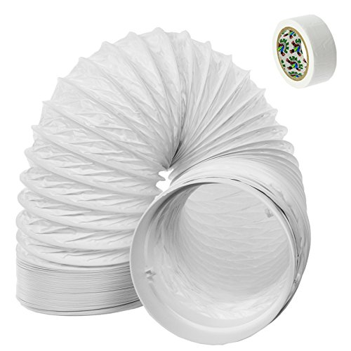"""SPARES2GO Hose Pipe PVC Duct Extension Kit for Delonghi Air Conditioner (3m, 5"""")"""