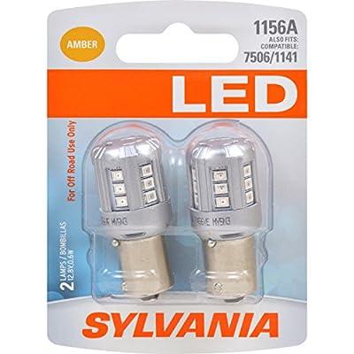 SYLVANIA 1156 Amber LED Bulb (Pack of 2)