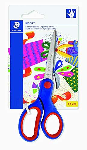 Staedtler Noris Club 965 14 NBK - Tijeras para manualidades, zona de agarre ergonómica, cuchillas redondeadas, alta capacidad de corte, longitud: 14 cm (5)