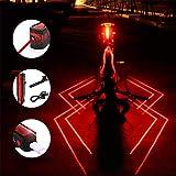 Plextone 3 Modes Spider Arrière (2PCS) LED Feu Arrière Nuit Run Run Backpack Camping Idéal pour Toute Décoration Vélo De Route.