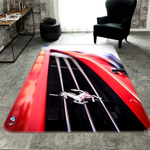 AJ WALLPAPER 3D Ferrari para alfombra de auto 241 antideslizante alfombra de habitación redonda elegante de calidad de la foto del Reino Unido Wendy (40 x 60 cm)