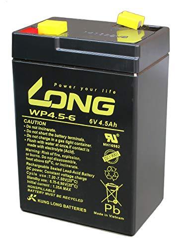 Batteria compatibile LC-R064R5P 3-FM-4,5 20HR 3 FM 4.5 3FM4,5 3FM4.5 6V 4Ah AGM senza piombo