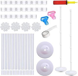SAKOLLA Balloon Column Kit - 2 Set Water Fillable Balloon Base and 61 inch Height Pole and 50Pcs Balloon Rings, Balloon To...