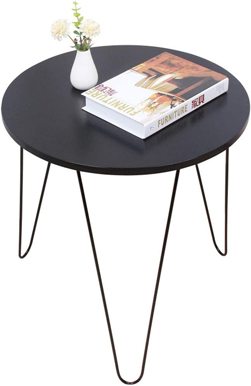 TYUIO Coffee End Tables Modern Furniture Decor Side Table for Living Room Balcony Home and Office (color   Black)