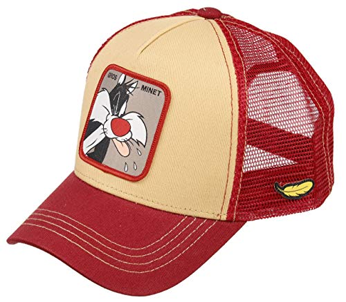 Capslab Sylvester Trucker Cap Looney Tunes Beige/Red - One-Size