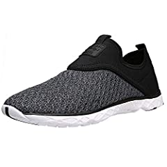 Engineered contrast color quick-drying textile upper,stylish enough from water to land or street. Slip on closed and flexible fabric offer easily on and off,yet protecting your foot from dropping off. Lightest slip resistant EVA cushion sole,maximum ...