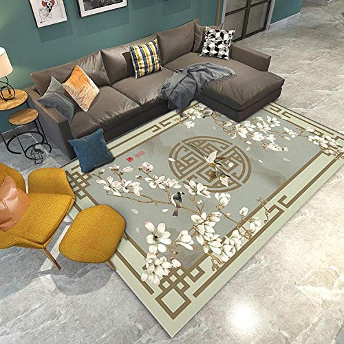 DLSM Style Ancien Chinois élégant Classique Doux Mode Confortable Respirant antidérapant Salon décoration de la Maison tapis-60 x 100 cm