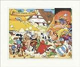 Kunstdruck Kampf zwischen Galliern Gallier Uderzo Asterix