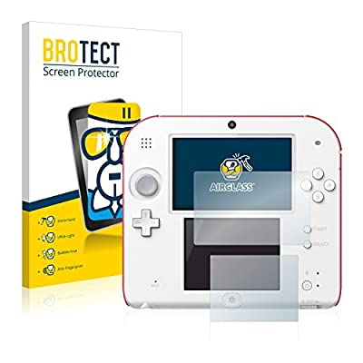 brotect Glass Screen Protector compatible with Nintendo 2DS Glass Protector, Extreme Scratch Resistant, AirGlass
