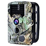 AUCEE Tracker Trail Camera, 16MP 1080P 120° PIR Sensor Wildlife Hunting Camera 65ft Infrared Scouting Camera with Night Vision 46pcs IR LEDs, IP56 Waterproof 0.2s Trigger Time Game Camera