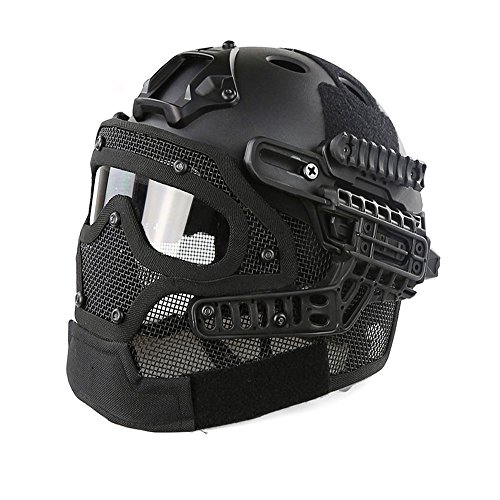 Top 10 best selling list for hyout fast tactical helmet combined with full mask and goggles