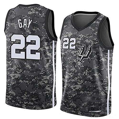 IFYG Camiseta de Baloncesto de Spurs de la NBA XS Camouflage