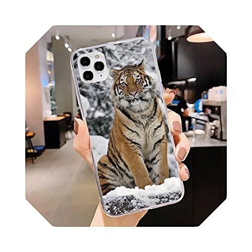 Funda para iPhone 11 12 Pro Max Clear Cover XS X XR 7 8 6 6S Plus 5 5S SE 2020 Funda para iPhone 7 Plus