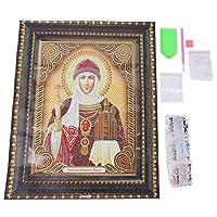 ロマンチックなバレンタインデー宗教パターン5D刺繡クロスクラフト、明るいダイヤモンドダイヤモンド絵画、ダイヤモンド刺繡アートクラフトアートトレーニングベッドルーム(PDB010)