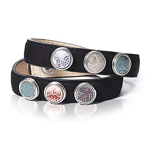 Noosa petite Armband wrap double skinny schwarz, Größe:S