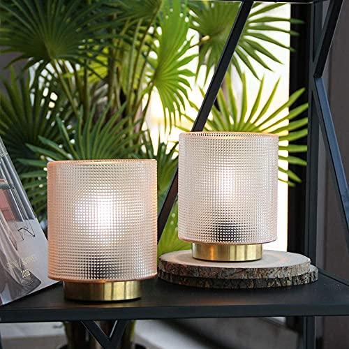 MJ PREMIER Tischlampe, 2er Set Batteriebetriebene Tischleuchte, Dekorative Kabellose Nachttischlampe mit Timer, Tischlampe für SchlafzimmerWohnzimmer/Hausdekoration/Tisch/Geschenk (Beige)