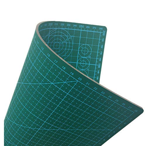 Cherry Professional Self-Healing Double Sided Rotary Cutting Mat - Long Lasting Thick Non-Slip 9  x 12  Mat that Provides Easy Cuts for Fabric, Quilting, Sewing, and All Art (Grass Green, A4 (12 x 9))