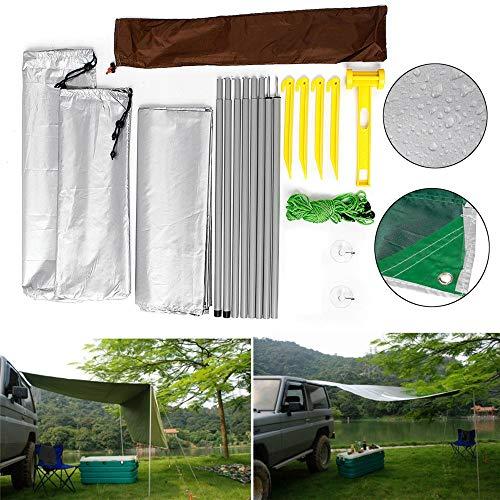 UV-beständiges Zeltauto 4.6x6.6 Zoll-Auto-Side Markise Dachzelt Sonnenschutz SUV Camping Outdoor-Spielraum-Zelt Sonnenschutz (Farbe : Silber, Größe : 2x1.4m)