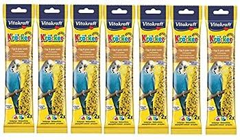 Vitakraft à suspendre perruches Graines de gazon et à œufs Cage Treat Sticks 7x Lot de 2