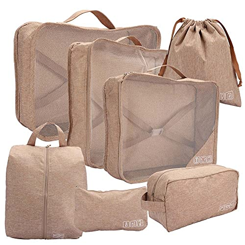 Changor Conjunto de Bolsas de Almacenamiento de Viaje, poliéster 37.5 x 34 x 10cm 25 x 21cm Equipaje Equipaje Organizadores