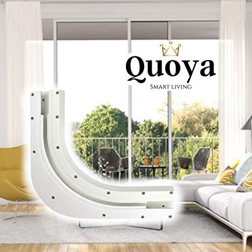 Quoya Smart Curtain Tracks, 90 Degrees Bend Set