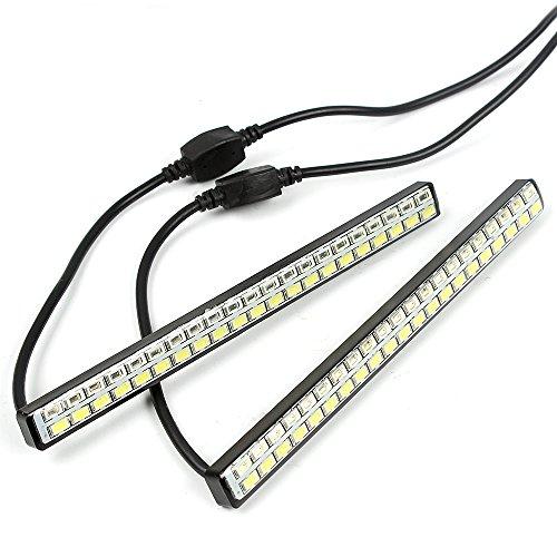 Itimo DRL Design Auto Universel DC 12 V de voiture LED Feux de Jour 42 LED Chips 2 pcs Blanc et ambre clignotants