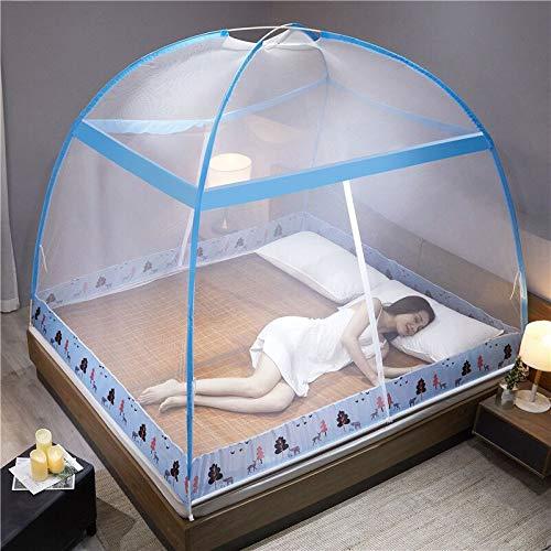 ワンタッチ蚊帳底ネット付きテント式1.8*1.5*2m大空間折り畳み式収納便利両面にドアー付き