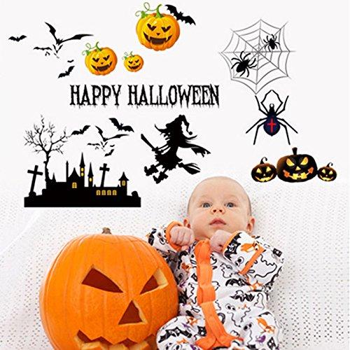 Nikgic Halloween Ghost Sticker PVC