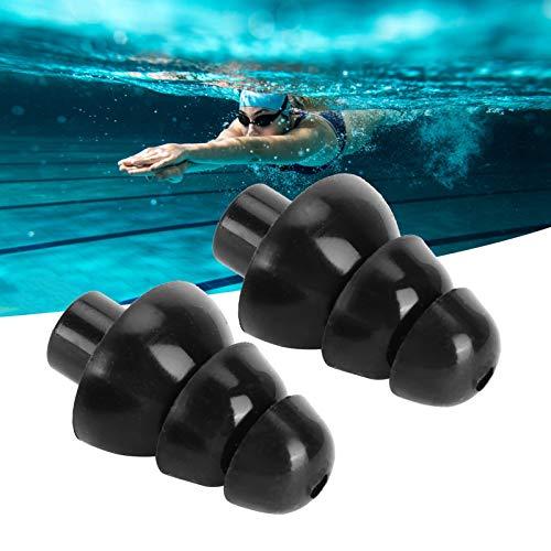 Tapón para los oídos para nadar, Efecto Tapón para los oídos de prevención de ruido negro con filtro para dormir y spas