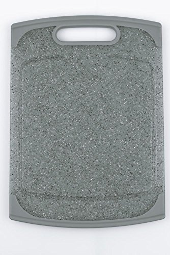 culinario Schneidebrett ca. 20 x 14 cm, in grauer Granit-Optik