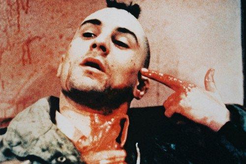 Robert De Niro Taxi Driver Points Bloody Finger To Head Mohawk Hair 24x36 Poster