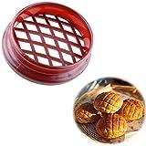 ZHONGBIAOBIAO Molde De Prensa De Celosía De Pastel De Piña,Pastel De Pan De Plástico Molde Cocina Pastelería DIY Hornear,3pcs-Rojo