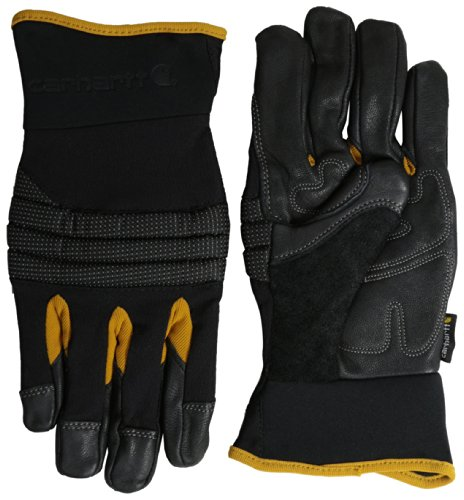 Carhartt Men's Winter Dex Kevlar Reinforced Spandex Work Glove, Black, Large