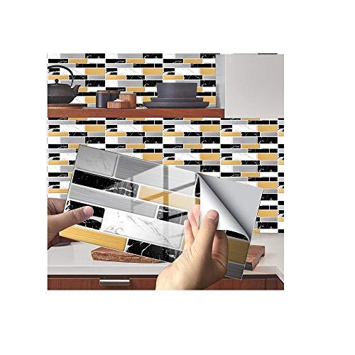 Adhesivos para azulejos, decoración para azulejos de cristal, autoadhesivos, adecuados para salón, cocina, baño, etc., 082._24 unidades