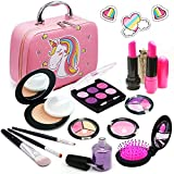 Senrokes Pretend Makeup Kids Cosmetic Toy Play Makeup Kit for Toddlers, Non Toxic Toy Face Makeup Beauty Set Birthday Gift for 3 4 5 6 7 8 9 10 Year Old Girls Fit Role Play Game, Princess Dress up.