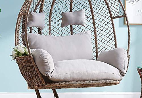 Dickes Balkon Ei Nest Stuhl Pad, übergroße 2 Personen Sitz Hängematte Hängesessel Kissen, Korb Schaukel Sitzmatte für Patio Hinterhof Rasen E.