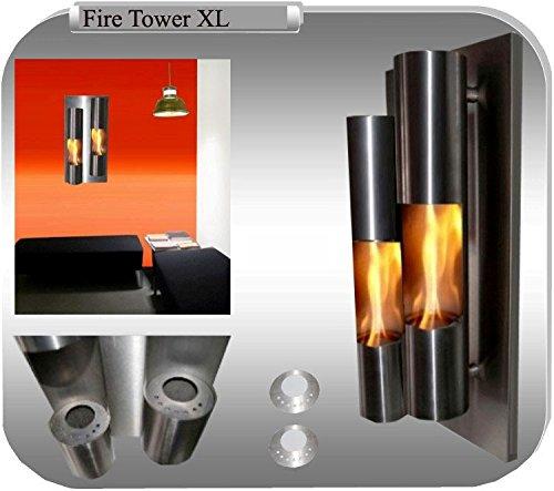 Gel- und Ethanolkamin Kamin Fire Tower Edelstahl - Wählen Sie aus XL/XXL (XL)