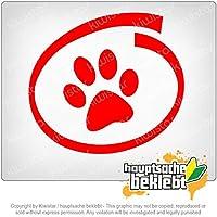 犬/猫の内部 Dog/cat inside 11cm x 10cm 15色 - ネオン+クロム! ステッカービニールオートバイ
