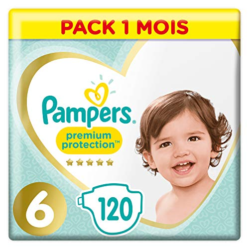 Pampers Premium Protection Maat 6, x120 Luiers, 12-17kg Maandbox
