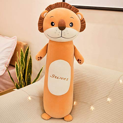 Leyue Toys Soft70cm Lion Almohada Creative Animal Almohada Linda Down Cotton Lion Llush Toy Chica Niño Regalo Muñeca