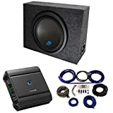 Alpine Bundle Compatible with Universal Vehicles S-W12D4 Single 12' Loaded Sub Box Enclosure with S-A60M 1200W Amplifier