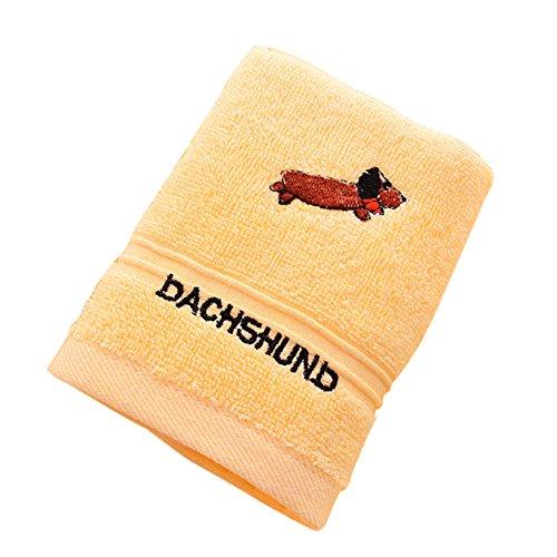 Qingsb Toallas de baño para niños, de algodón, supersuaves, absorbentes de agua, color amarillo