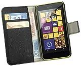 yayago Book Style Tasche für Nokia Lumia 630/635 Hülle mit Kartenfächern