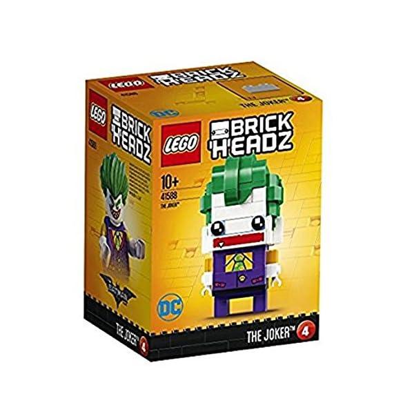 LEGO Brickheadz - The Joker, Figura de Juguete del Villano Enemigo de Batman (41588) 1