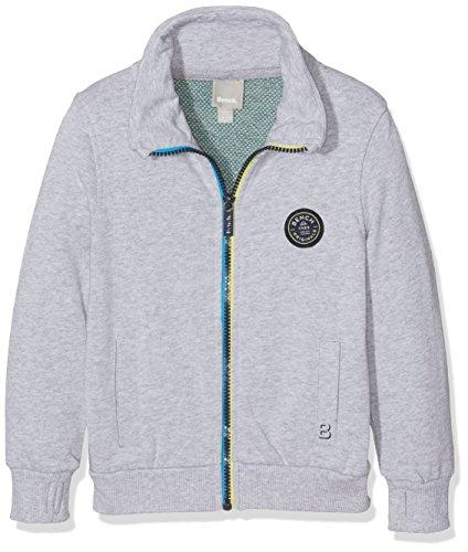 Bench Jungen Zip Thro Funnel Sweat Sweatshirt, Grau (Summer Grey Marl MA1026), 152 (Herstellergröße: 11-12)