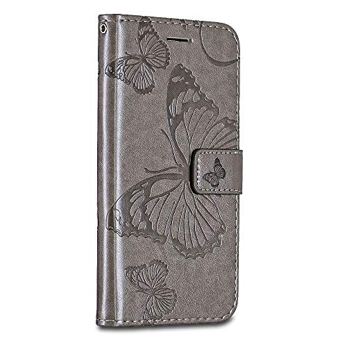 Sony Xperia XZ / XZs Case Cover, Casake [High Quality Pu Leather] [Card/ID Holder] [Wallet Flip Case] [Drop Proof] For Sony Xperia XZ / XZs Case -Grey
