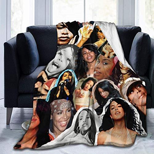Tengyuntong Manta Ultra Suave Micro Fleece Aaliyah Nueva Suave Franela Cálida Edredón de Invierno Hogar Ligero