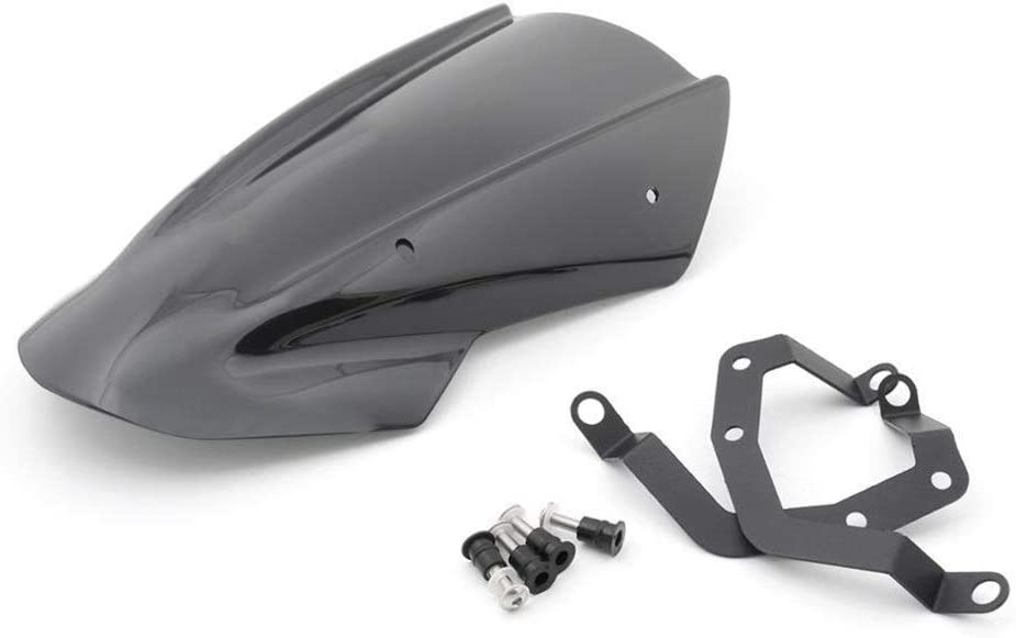 F/ácil de Instalar For Kawasaki Z650 ABS 2017-2019 Parabrisas Protecci/ón de Pantalla con Soporte de Parabrisas Z650 Accesorios de la Motocicleta Experiencia Confortable Color : Black
