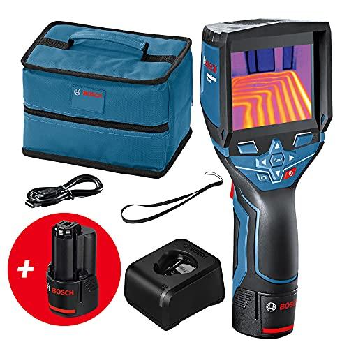 Bosch Professional 12V System Termocamera GTC 400 C 2 Batterie 12 V, Custodia, con Funzione App, Temperatura: da -10 °C a +400 °C, Risoluzione: 160 x 120 pixeli, Amazon Exclusive Set
